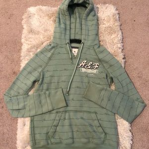 Abercrombie and Fitch size M green hoodie